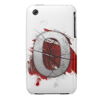 Letra mortal O del monograma del diseño Funda Bareyly There Para iPhone 3 De Case-Mate