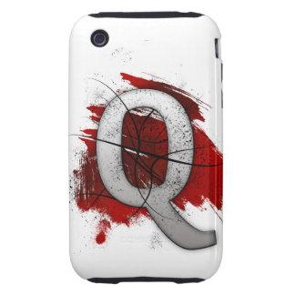 Letra mortal Q del monograma del diseño Carcasa Resistente Para iPhone
