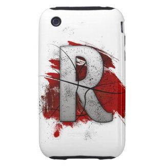 Letra mortal R del monograma del diseño Carcasa Resistente Para iPhone