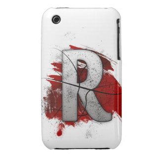 Letra mortal R del monograma del diseño Funda Bareyly There Para iPhone 3 De Case-Mate