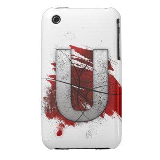Letra mortal U del monograma del diseño Funda Bareyly There Para iPhone 3 De Case-Mate