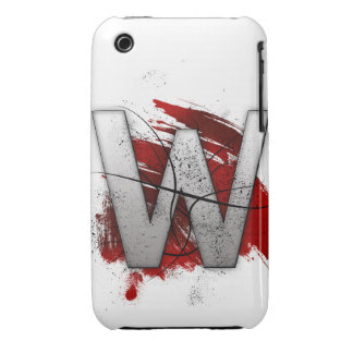 Letra mortal W del monograma del diseño Funda Bareyly There Para iPhone 3 De Case-Mate