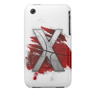 Letra mortal X del monograma del diseño Carcasa Para iPhone 3