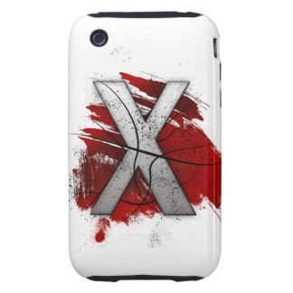 Letra mortal X del monograma del diseño Carcasa Resistente Para iPhone