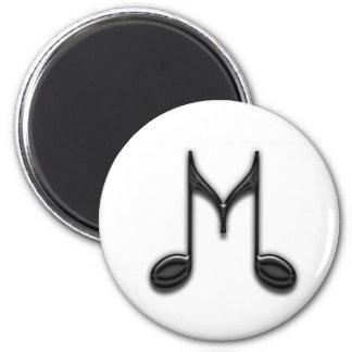 """Letra musical de """"M"""" Imán Redondo 5 Cm"""