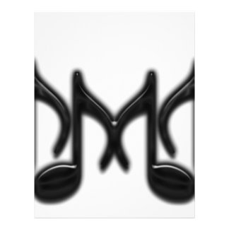 Letra musical M Flyer Personalizado