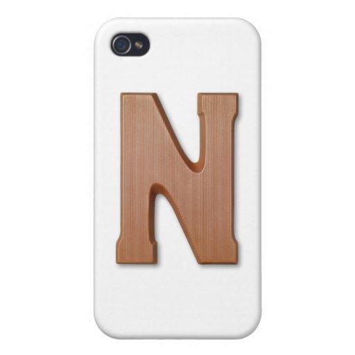 Letra N del chocolate iPhone 4 Funda