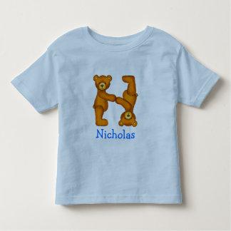 Letra N Initial~Custom Name~Shirt del alfabeto del Playera De Niño