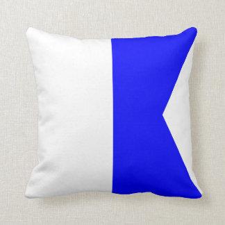 Letra náutica A de la señal de la bandera Cojín