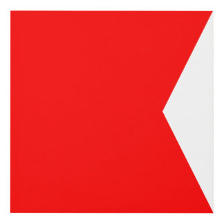 Letra náutica B (bravo) de la señal de la bandera Cuadro