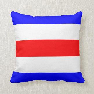 Letra náutica C de la señal de la bandera Cojín
