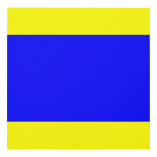 Letra náutica D (delta) de la señal de la bandera