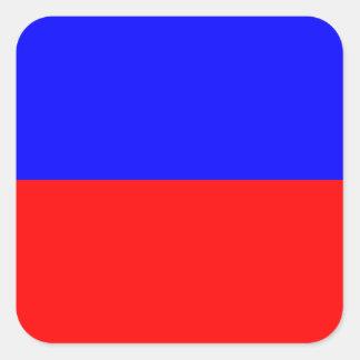 Letra náutica E (eco) de la señal de la bandera Pegatina Cuadrada