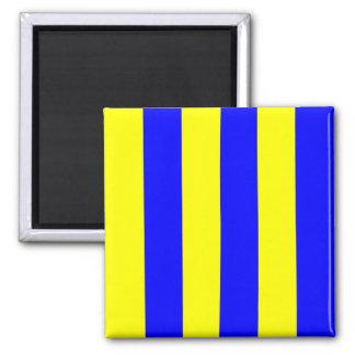 Letra náutica G (golf) de la señal de la bandera Imán Cuadrado