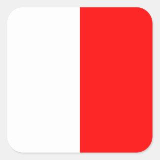 Letra náutica H (hotel) de la señal de la bandera Pegatina Cuadrada