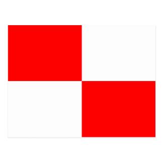 Letra náutica U de la señal de la bandera del Tarjetas Postales
