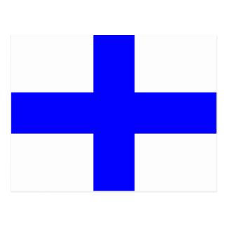 Letra náutica X de la señal de la bandera del Postales