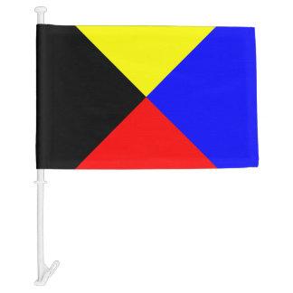 Letra náutica Z del Zulú de la bandera del barco