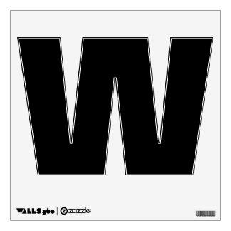 Letra negra W