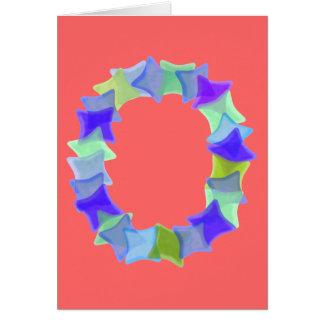 Letra O, cuadrados azules del mosaico de los Tarjeta De Felicitación