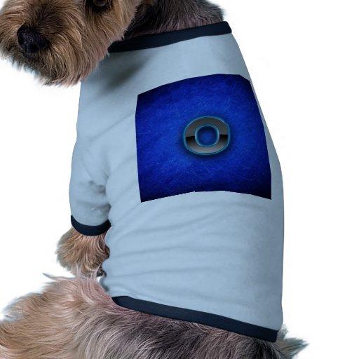 Letra O - edición azul de neón Ropa De Perros