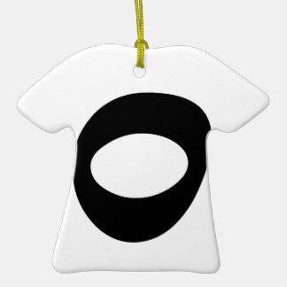 Letra O_large Adorno De Cerámica En Forma De Camiseta