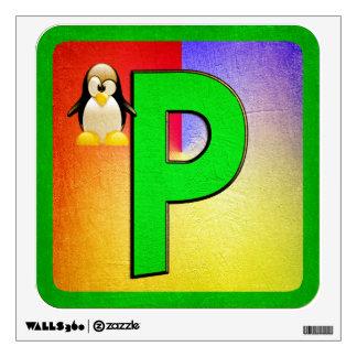 Letra P del alfabeto Vinilo