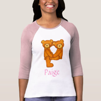 Letra P Initial~Custom Name~Shirt del alfabeto del Camisas