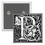 Letra P - Pin del alfabeto del estilo del renacimi