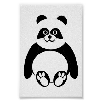 Letra pequeña de la panda póster