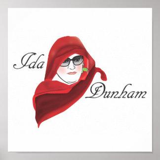 Letra pequeña del Ida Posters