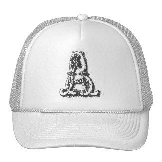Letra personalizada del monograma un gorra de béis