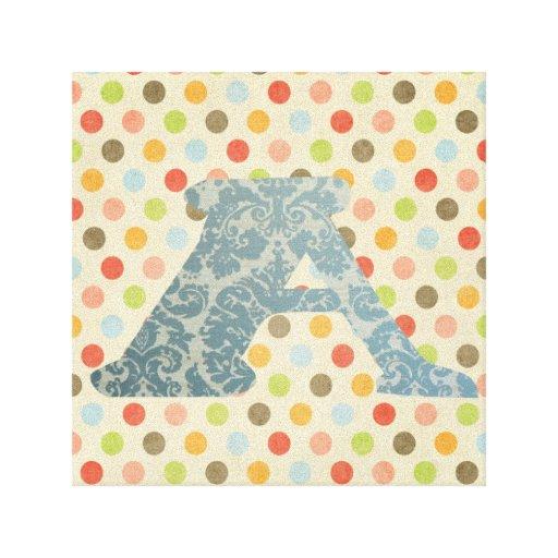 Letra personalizada monograma A del arte Lona Envuelta Para Galerías