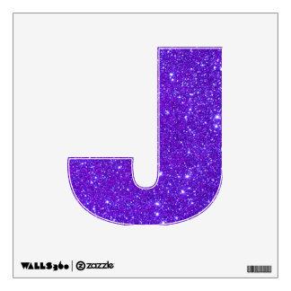 Letra púrpura Abcs de la etiqueta de la pared de l