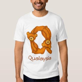 Letra Q Initial~Custom Name~Shirt del alfabeto del Playera