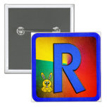 Letra R del alfabeto Pins