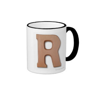 Letra r del chocolate taza de dos colores