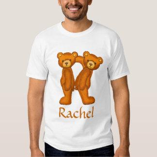 Letra R Initial~Custom Name~Shirt del alfabeto del Polera