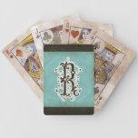 Letra R - Vintage moderno de la decoración elegant Barajas De Cartas