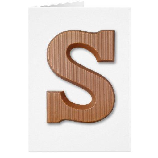 Letra S del chocolate Felicitacion