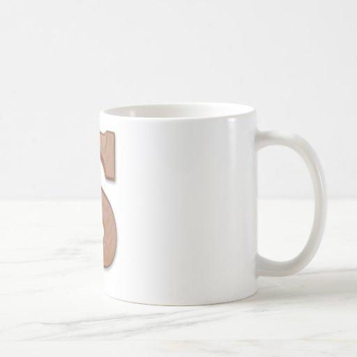 Letra S del chocolate Tazas De Café