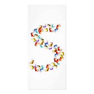Letra S hecha fuera de gráficos coloridos del seah Lona Publicitaria