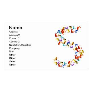 Letra S hecha fuera de gráficos coloridos del seah Plantillas De Tarjetas De Visita