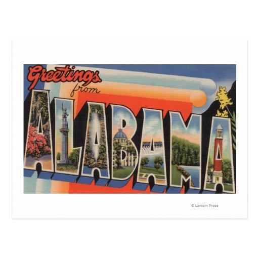 Letra ScenesAlabama de AlabamaLarge Tarjetas Postales