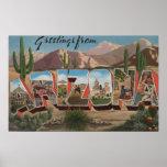 Letra ScenesArizona de ArizonaCactusLarge Posters