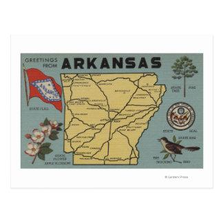 Letra ScenesArkansas 2 de ArkansasLarge Postales