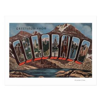 Letra ScenesColorado de ColoradoLarge Tarjeta Postal