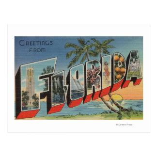 Letra ScenesFlorida de FloridaLarge Postales