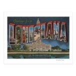 Letra ScenesLouisiana de LouisianaLarge Postal