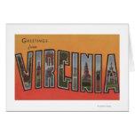Letra ScenesVirginia 3 de VirginiaLarge Tarjeta De Felicitación
